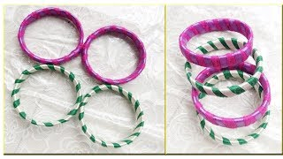 3 SIMPLE LIFE HACKS |How To Make Silk Thread Bangle Making At Home |DIY Easy and simple Bangles - Video Youtube