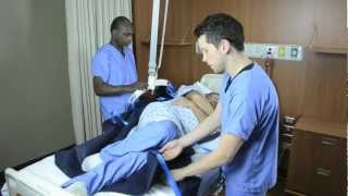 Turning Patient with Repositioning Sling and Ceiling Lift