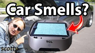 How to Remove Car Smells using a HEPA air purifier and ionizer - DIY with Scotty Kilmer