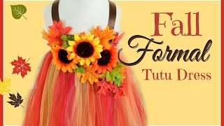 DIY Fall Formal Tutu Dress
