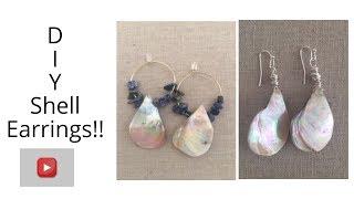 DIY  Shell Earrings| Jewelry Tutorial | Easy!!, Jewelry Making