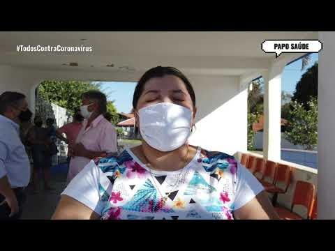 Paciente curado da Covid-19 recebe alta médica no Hospital Municipal de Jaciara