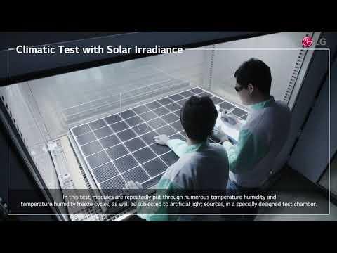 LG Solar QA Test(1): Climatic Test with Solar Irradiance