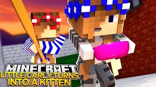 Minecraft Little Carly-EVIL SISTER STEALS MY VOICE!!