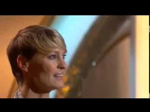 Robin Wright Wins Golden Globe Awards 2014 | HD