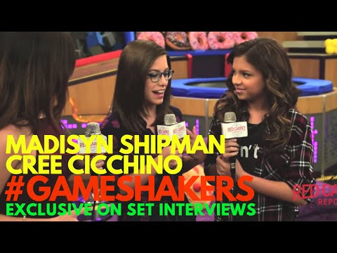 Madisyn Shipman & Cree Cicchino on set of Nickelodeon's Game Shakers Season 2 #‎GameShakers