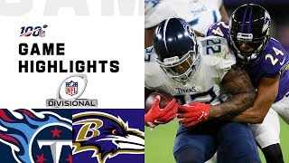 The Tennessee Titans take on the Baltimore Ravens during the Divisional Round of the 2019 NFL postseason.  Subscribe to NFL: http://j.mp/1L0bVBu  Check out our other channels: NFL Vault http://www.youtube.com/nflvault NFL Network http://www.youtube.com/nflnetwork NFL Films http://www.youtube.com/nflfilms NFL Rush http://www.youtube.com/nflrush NFL Play Football https://www.youtube.com/playfootball NFL Podcasts https://www.youtube.com/nflpodcasts  #NFL #Titans #Ravens