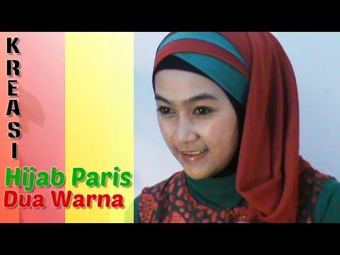 Video Tutorial Hijab Paris Segi Empat Dua Warna Special Ramadhan & Lebaran