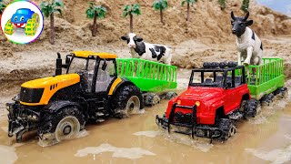Farm Animal Transport Truck | Tractor, Garbage Vehicle, Truck, Helicopter | Kid Studio
