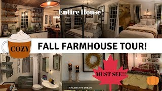 WOW! FARMHOUSE! Entire Home Fall Decor Tour!! 2019 NEW! Inspiring!