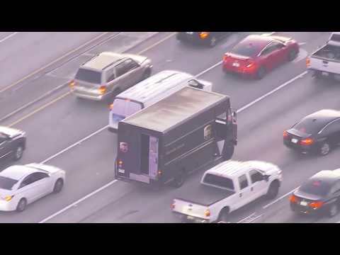 Armed robbery leads to pursuit of UPS truck through South Florida streets