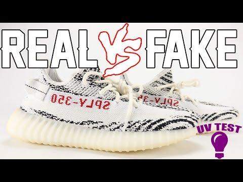 a4a1848e726 Real vs Fake adidas YEEZY Boost 350 V2 ZEBRA Legit Check UV Light ...
