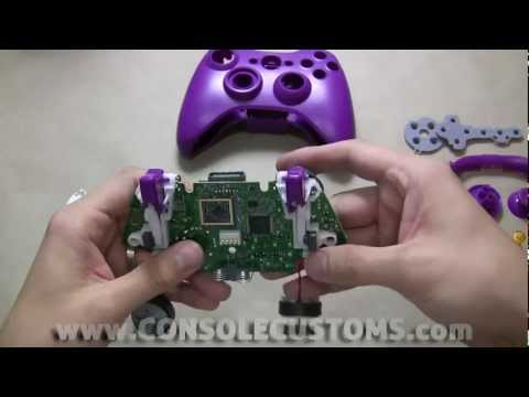 Xbox 360 aftermarket controller shell installation, by Console Customs