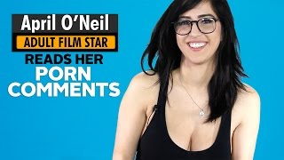 Adult Film Star April O'Neil Reads Comments Left on Her Pornhub Videos