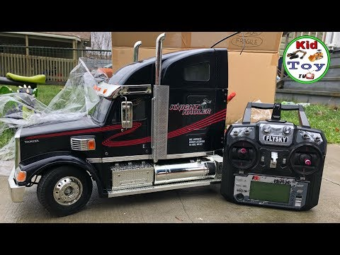 RC TRUCK TRAILER KING HAULER UNBOXING AND REVIEW || RC SEMI TRUCK 1/14 TAMIYA RTR