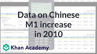 Data on Chinese M1 Increase in 2010