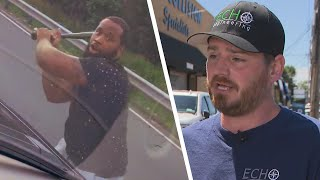 Dad Whose Windshield Got Bashed In Says Sons Were Terrified
