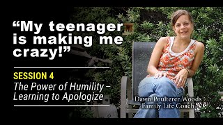 """My Teenager Makes Me Feel Crazy!"" Session #4 of a 7 part mini-video series for parents of"
