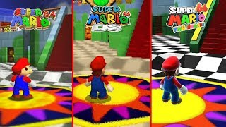 Super Mario 64 Vs DS Vs HD Comparison Part 2