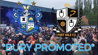 *PITCH INVASION* AS BURY FC ARE PROMOTED TO LEAGUE ONE! (Bury 1-1 Port Vale)
