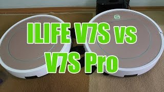 ILIFE V7S vs V7S Pro Robot Vacuum and Mop Comparison