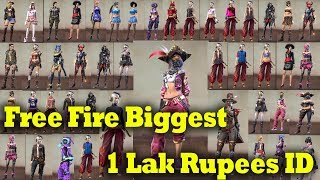 (Part-2)Free Fire Biggest 1 Lak Rupees ID |Gaming Tamizhan Full Collection Video|  All Elite Pass ID