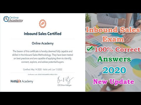 HubSpot Inbound Sales Exam Guidelines  100% Correct  Answers ...