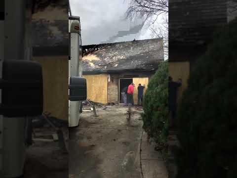 On the job video of a boardup, following a house fire in Libertyville, IL