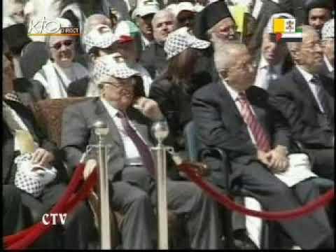 Messe sur la place de la Mangeoire à Bethléem