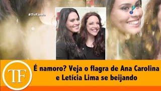 Veja o flagra de Ana Carolina e Letícia Lima se beijando no Carnaval