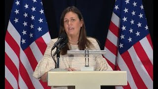 Sarah Huckabee Sanders June 11, 2018  White House Press Briefing With Mike Pompeo In Singapore