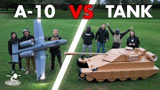 A-10 Warthog  VS  Tank - Epic Airsoft Battle