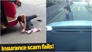 Insurance Scam Fails Caught On Camera