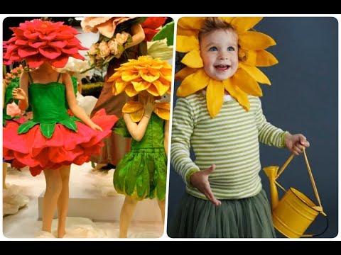 Disfraces de Flores para niños muy Sencillos