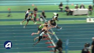 Liévin 2019 : Finale 60 m haies Juniors M (Jeanice Laviolette en 7''63)