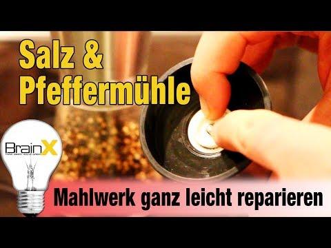 Salz und Pfeffermühle mit Keramik Mahlwerk ganz leicht reparieren