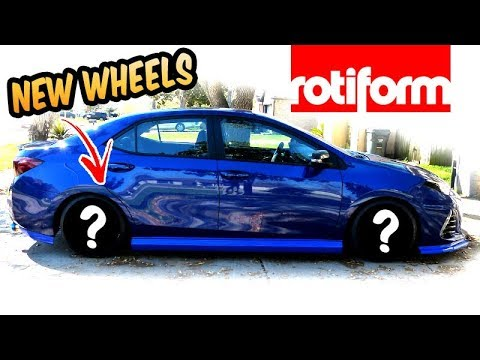 "NEW Wheels 18"" Rotiform TMB 2017 Corolla SE"