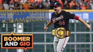 Washington Nationals earn their FIRST World Series TITLE ever! | Boomer & Gio