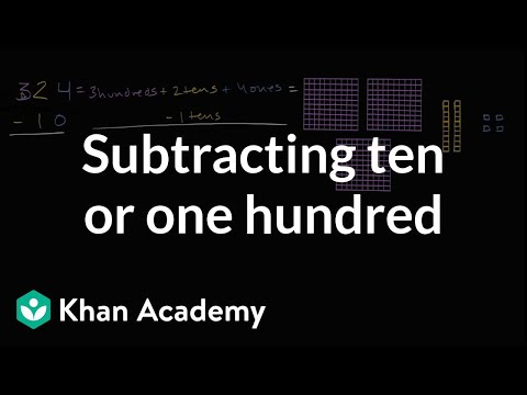 Subtracting 10s and 100s (no regrouping)