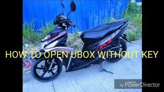 How to open UBOX in Mio i125 without key