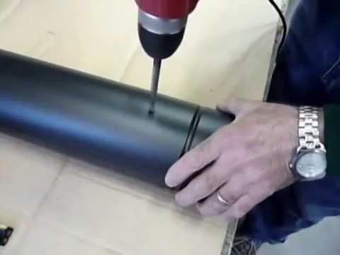 come montare una valvola per un tubo di 12cm - regolare tiraggio canne fumarie forni a legna, camini