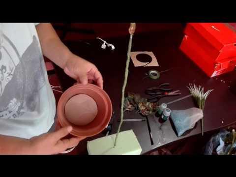 como hacer una planta artificial