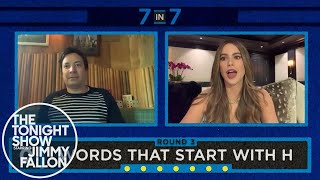 7 in 7 with Sofia Vergara (Tonight Show At Home Digital Exclusive) thumbnail