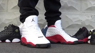 newest collection 2c0c0 47c47 ... Air Jordan 13 XIII WhiteRed Cherry Chicago Sneaker On Foot With DjDelz  ...