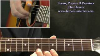 """Video thumbnail of """"How To Play John Denver Poems Prayers & Promises (intro only)"""""""