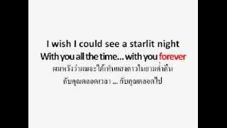 starlit night - lee jong hyun CNBLUE (lyric)(eng+jap+thai sub)