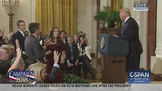 Exchange between President Trump and CNN's Jim Acosta (C-SPAN)