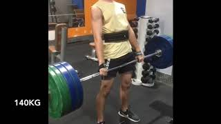 Journey to 200kg deadlift at 15 years old
