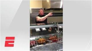 Brock Lesnar serves breakfast in ESPN cafeteria prank | ESPN Archives