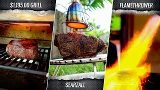 Searzal Vs Otto Grill Vs Flamethower Who Finishes The Best SOUS VIDE STEAK?